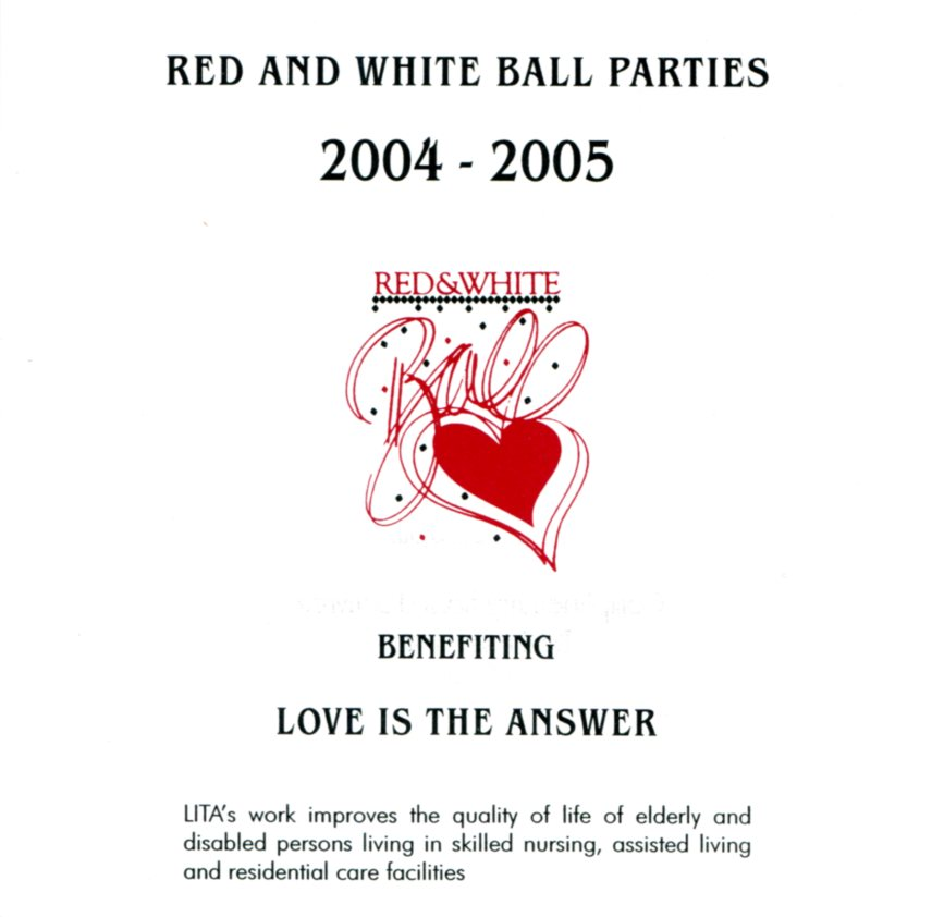 Red and White Ball invitation 05 benefiting LITA