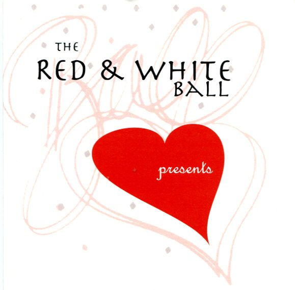 Red and White Ball program cover